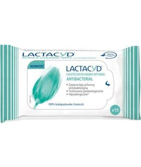 LACTACYD Chusteczki antybakteryjne (15szt)
