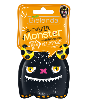 BIELENDA MONSTER 3D mask / flaps KAZIK detoxifies