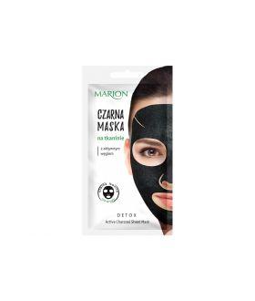 MARION DETOX Czarna maska/tkanina