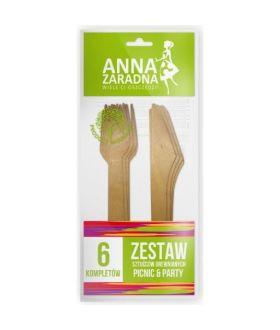 Anna Zestaw sztućców drewnianych 6 kompletów x26 PM 99 p (3553)