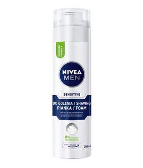 NIVEA MEN Pianka do golenia 200ml SENSITIVE