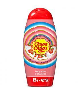 BI-ES Chupa Chups żel 2w1 250ml Strawberry & Crem