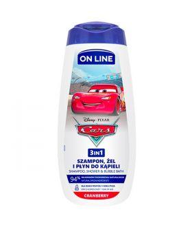 ON-LINE 400ML DISNEY 3W1 CARS CRANBERRY