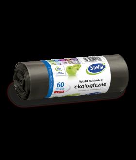 STELLA worki na smieci ekologiczne LDPE z tasma 60L/10szt x20 (4164) £1.29 pm