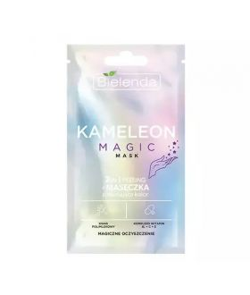 BIELENDA Maseczka KAMELEON MAGIC mask - 2w1 peeling + maseczka zmieniająca kolor - magiczne oczyszczenie 1szt (box 12szt)