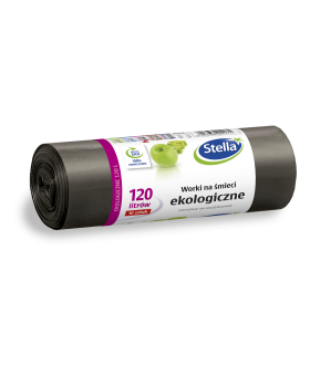 STELLA worki na smieci ekologiczne LDPE 120L/10szt x12 PM £3.29 (4171)