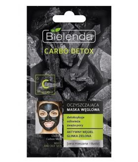 BIELENDA CARBO DETOX Maska węglowa do cery mieszanej i tłustej 8g