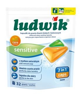 LUDWIK Washing capsules for white and colour fabrics Sensitive 2 in 1 caps10 x6 PM £2.79