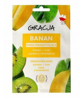 MIR GRACJA Maska w płacie Banan+Kiwi energizująca