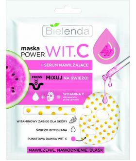 BIELENDA Maseczka POWER WIT.C Maska + Serum nawilżające 22 ml