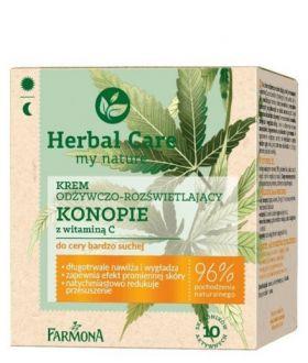FARMONA HERBAL CARE Krem d/tw odż-rozświ KONOPIE+VIT C ,cera b.sucha 50ml